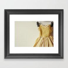 Doll Closet Series - Mustard Stripe Dress Framed Art Print