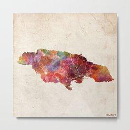 Jamaica map Metal Print