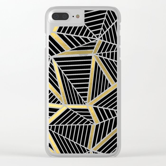 Ab 2 Silver and Gold Clear iPhone Case