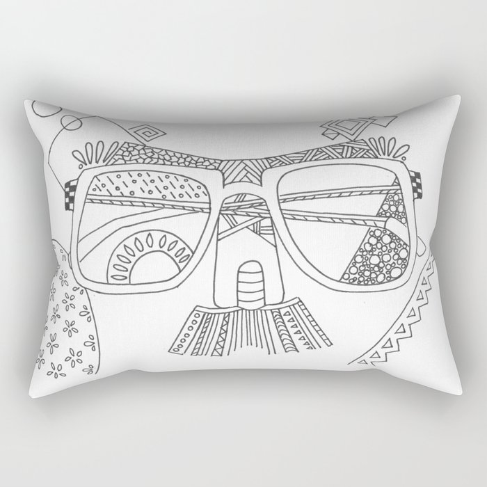 Glasses with moustache Rectangular Pillow
