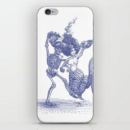 Dancing Mermaid and Skeleton iPhone Skin