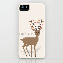 I love you deerly iPhone Case