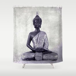 Buddha  - JUSTART © Shower Curtain