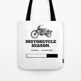 Motorcycle Season Loading Tote Bag