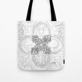 The Ocean's, Black and White Tote Bag