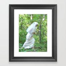 The Runaway Bride Framed Art Print