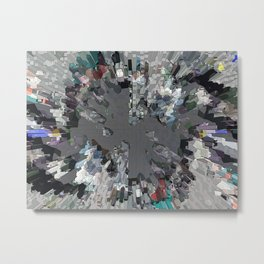 New York city seen from the clouds Metal Print
