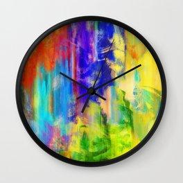 Vibrant Paint Grunge Wall Clock