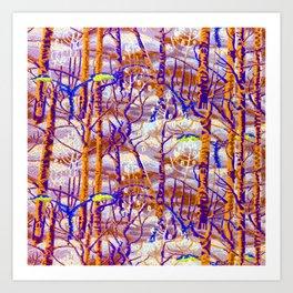 Charles Burchfield The Birches Art Print