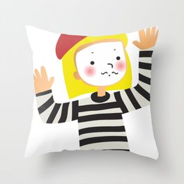 Le Mime Throw Pillow