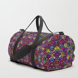 Flower Power Doodle Art Duffle Bag