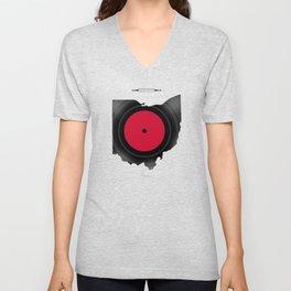OHIO 33⅓ rpm LP Record Unisex V-Neck