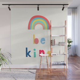 Be Kind Rainbow Wall Mural