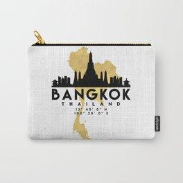 BANGKOK THAILAND SILHOUETTE SKYLINE MAP ART Carry-All Pouch