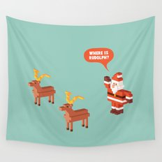 Where is Rudolph? Wall Tapestry