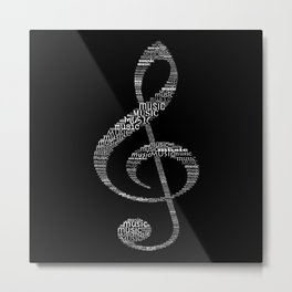 Treble Clef Metal Print