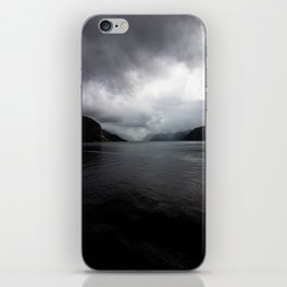 Clouded Fjord iPhone Skin