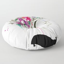 flowers in your hair Floor Pillow