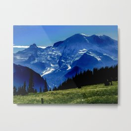 Mount Rainier in the Distance Metal Print