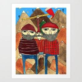 The Lumberjacks Art Print