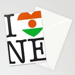 I Love Niger Stationery Cards