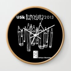 Urban Sketchers USk BCN 2013 Wall Clock