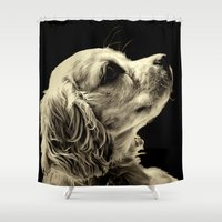 puppy Shower Curtains featuring Puppy Love by Roger Wedegis
