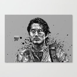 Glenn Rhee from The Walking Dead as played by Steven Yeun Canvas Print