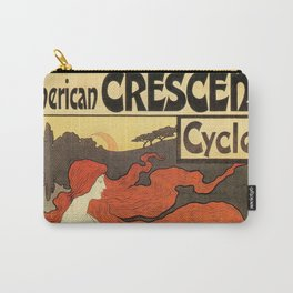 Vintage American art nouveau Bicycles ad Carry-All Pouch
