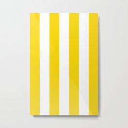 Retro 60s Big Surf Yellow Stripe Pattern Metal Print