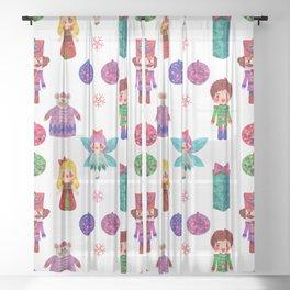 Bright Christmas - The Nutcracker Sheer Curtain