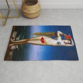Lady Snake - Digital Collage Artwork Rug
