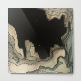 Space Land Metal Print