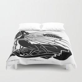 """Birth Of A Dragon"" Linoleum Print Series Duvet Cover"