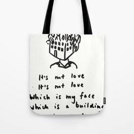 Love -> Building on Fire Tote Bag