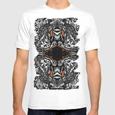 Space Rift White Mens Fitted Tee MEDIUM