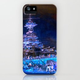 """Charles William Wyllie """"Princess Royal in dry dock after the Jutland battle"""" iPhone Case"""