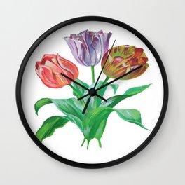 Tulip Trio Wall Clock