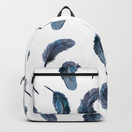 Feathers Watercolor Pattern Backpack