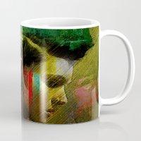 british Mugs featuring Under a British rain by Joe Ganech
