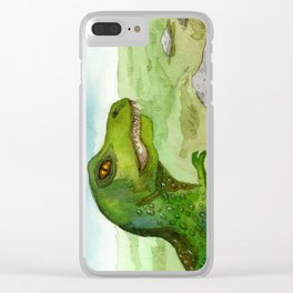 Dinosaurs Clear iPhone Case