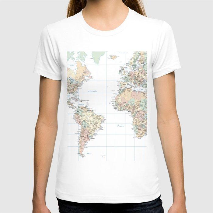 Clear World Map T-shirt
