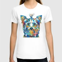 yorkie T-shirts featuring Colorful Yorkie Dog Art - Yorkshire Terrier - By Sharon Cummings by Sharon Cummings