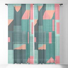 Teal Klee houses Sheer Curtain