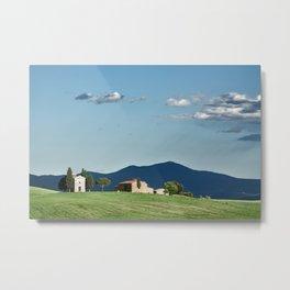 Vitaleta chapel in Val d'Orcia, Tuscany Metal Print