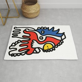 Mondrian Graffiti Art Creature by Emmanuel Signorino Rug