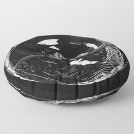 Orca Flow black-and-white Floor Pillow