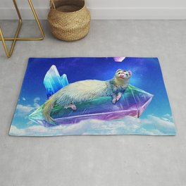 Ferret in the Sky with Crystals Rug