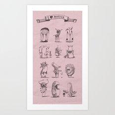 I love monster 2 Art Print
