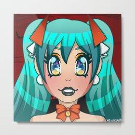 Halloween Miku Bust Print Metal Print